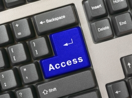 Keyboard -  blue key Access